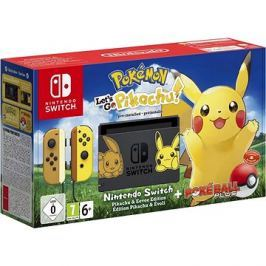 Nintendo Switch + Pokémon: Lets Go Pikachu + Poké Ball